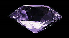 Blue purple diamond Stock Footage
