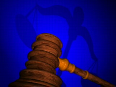 Gavel 02 Stock Footage