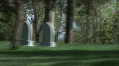 graveyard driveby  - stock footage