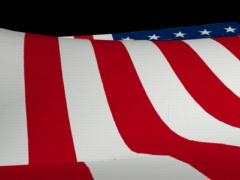 us flag loop1 - stock footage