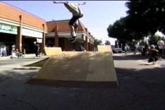 Skateboard ollie - stock footage