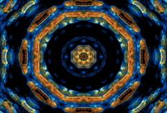 Weird psychedelic kaleidoscope (NTSC) - stock footage