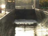 Stock Video Footage of Sluice filling with water