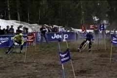 Bike slalom Stock Footage