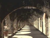 Mission San Jose Arches Stock Footage