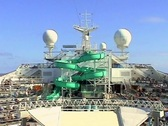 Swim Deck slide cruise no audio Stock Footage