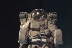 Space walk black background Stock Footage