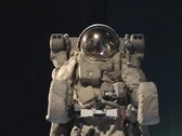 Stock Video Footage of Space walk black background