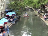 San Antonio Riverwalk restaurant section Stock Footage