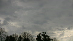 Dark clouds slowly drift in the gloomy sky (High Definition) - stock footage