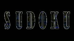Techno Words: Sudoku Stock Footage