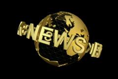 db Globe 01 News Break SD - stock footage