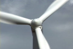 Wind Turbine close up 2 Stock Footage