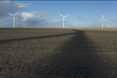 Wind Turbine with shadow 47 Stock Footage