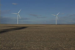 Wind Turbine with shadow 52 - stock footage