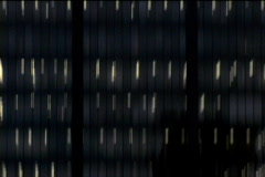 Abstract office tower lights up and down Stock Footage
