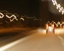 Night ride through Hamburg (PAL) Stock Footage