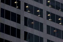 Office tower tilt up 4 Stock Footage