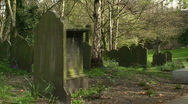 Stock Video Footage of Gravestones in a very old cemetery. HD 1080i