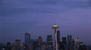 Stock Video Footage of Seattle by Night