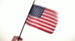 Waving a USA Flag Stock Footage