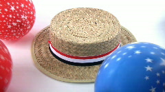Election Hat and Balloons - stock footage
