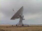 Large radio telescope Stock Footage