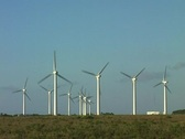 Stock Video Footage of Windturbines