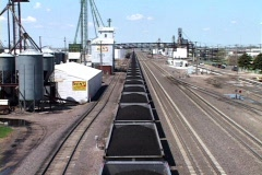 Endless train of Coal Stock Footage