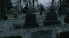 graveyard walkthru fast (mx-1) - stock footage