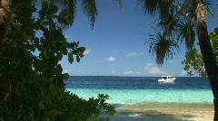 Look through - caribbean lagoon Stock Footage