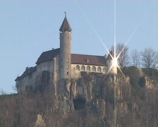 Stock Video Footage of Castle Teck