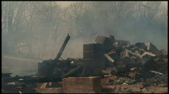 Housefire Aftermath (2 of 5) Stock Footage