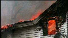Housefire window (1 of 2) Stock Footage