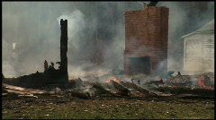 Housefire Aftermath (4 of 5) Stock Footage