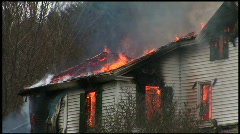 Housefire Pan Stock Footage
