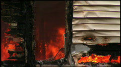 Housefire Doorway Stock Footage