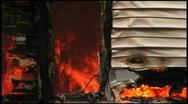 Stock Video Footage of Housefire Doorway