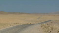 Desert abandoned road Stock Footage