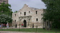 Alamo front from Right side San Antonio Texas HD Stock Footage