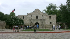 Alamo front TX flag HD Stock Footage
