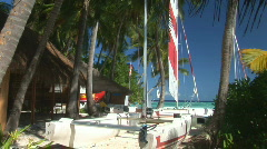 Tropical watersport center Stock Footage