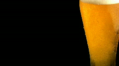 Cool beer with place for text Stock Footage