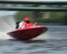 Racing motorboats  Stock Footage