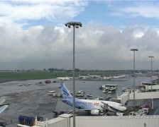 Airport exterior timelapse Stock Footage