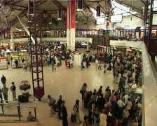 Airport hall interior timelapse Stock Footage
