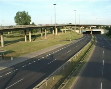 Busy road interchange Stock Footage