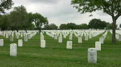 Ft Sam Houston Veterens Cemetery headstones HD Stock Footage