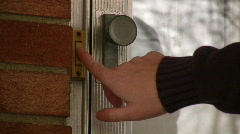 Ringing a Door Bell Stock Footage