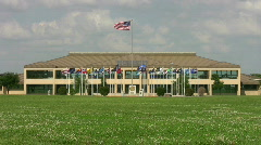 Lackland AFB HQ flags HD Stock Footage
